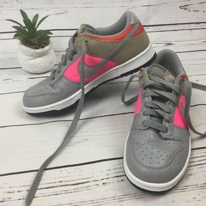 Nike Dunk Low Medium Grey Sneakers, Size 7.5